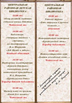"""День встречи с классиком """"Страстная поэзия Н.А. Некрасова"""""""